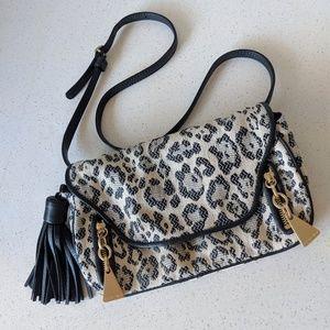 See by Chloe leopard shoulder crossbody purse